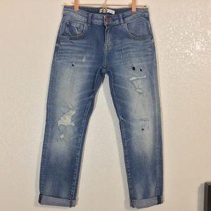 Zara   Women's Distressed Ankle Jeans   Size 2